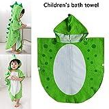 Kinderbadetuch Baby Bademantel, Handtuch-Poncho für Kinder, Reine Baumwolle Sehr weich und bequem, Dinosaurier Muster für Kinder zwischen,Blue