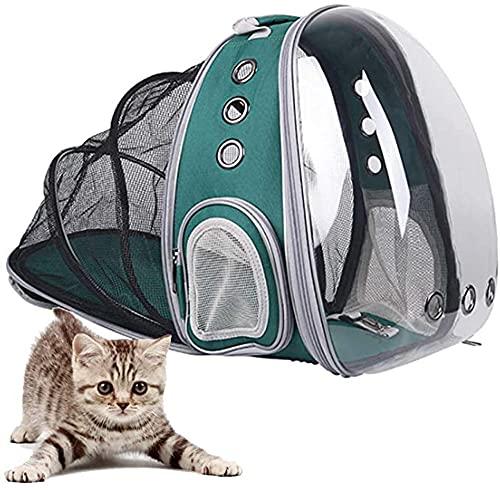 HUA JIE Mochila para Mascota,diseño De Cápsula Espacial,Mochila Portátil Plegable para Viajes Al Aire Libre