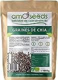 Graines de Chia Bio 1KG | Protéines, Digestion, Oméga 3 | Qualité Supérieure