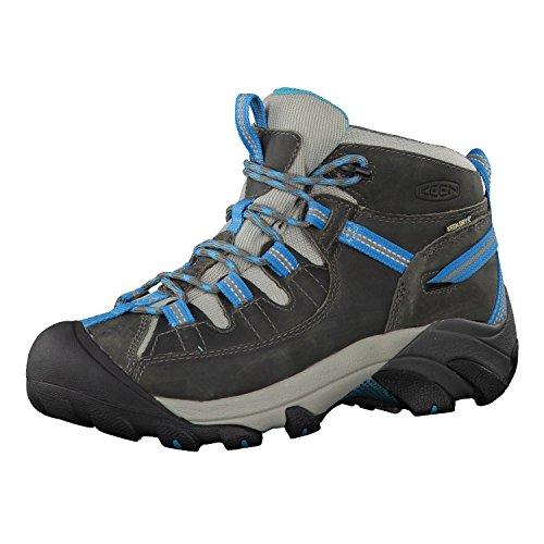 KEEN Women's Targhee II Mid Waterproof Hiking Boot, Gargoyle/Caribbean Sea, 9.5 B - Medium