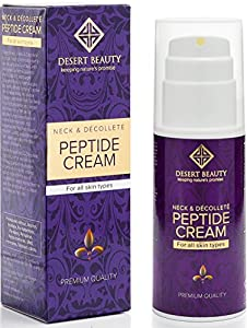 Neck Firming Cream, Anti Aging Moisturizer for Neck & Décolleté (3.38 oz / 100ml Large Bottle) | Advanced Stem Cell + Collagen Formula For Tightening & Lifting Sagging Skin | by Desert Beauty
