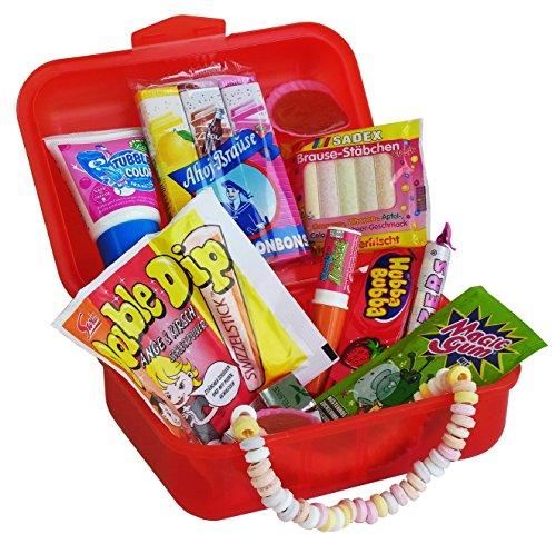 Geschenk Box Lunch Box mit verrückten Retro Süßigkeiten, 1er Pack (1 x 250g)