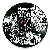 YYIFAN - Orologio da parete 3D in vinile Winnie the Pooh da 30,5 cm, moderno, creativo, digitale, decorazione artistica per soggiorno, cucina, camera da letto