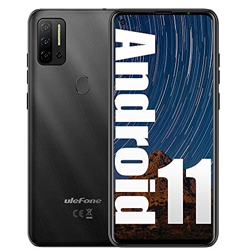 Ulefone NOTE 11P (2021), Android 11 Smartphone Offerta, Helio P60, 6,55  Cellulare, Octa-Core 8GB + 128GB, 48MP + 8MP Quad Camera, Dual SIM, Batteria 4500mAh OTG, Sblocco Impronta Digitale Nero