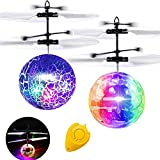 Flying Ball, 2 Pack Kids Toys Remote Controller Helicopter RC Flying Toys Holiday Easter Toy Gifts for Kids Boys Girls Rechargeable Light Up Ball RC Drone Easter Basket Stuffers Outdoor Sport Games