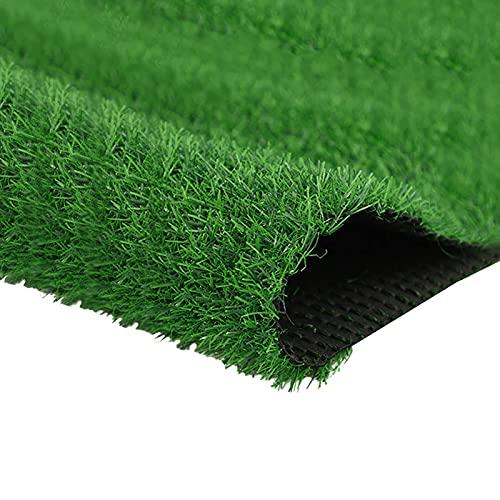 Quesuc La Alfombra de Césped Artificial Premium Para Balcones y Terrazas | Césped Artificial Rollo Exteriores es Permeable al Agua con Protección UV, 25 mm de Altura (100x100 cm)