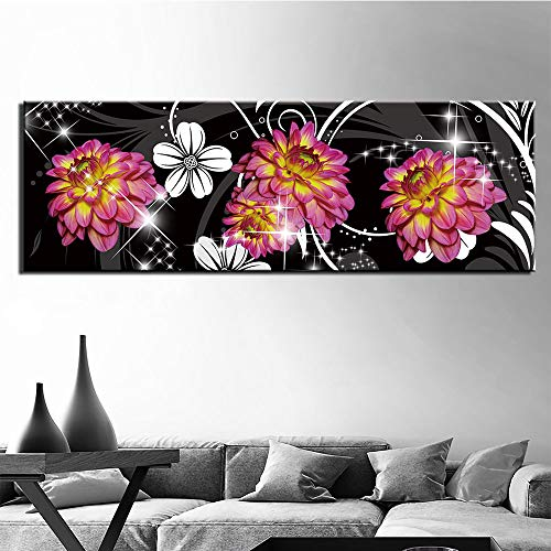 zgldx73 HD gedruckt abstrakte Blume leinwand malerei Dekoration Wand für Wohnzimmer wandkunst Bilder malerei zu hause30x90cm Kein Rahmen