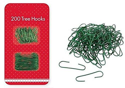 200Crochets Sapin Vert de Noël Décorations Cintres Home Party Balle Boule de Noël extérieur Festive Clip