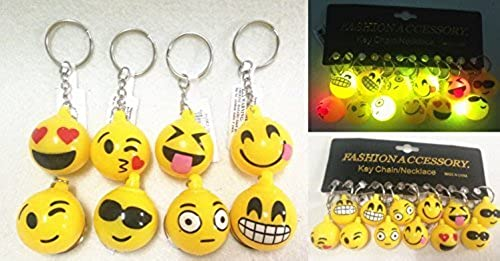 tienda de bajo costo 2 Flashing Smile Face Keychain Keychain Keychain 1DZ-(STYLE MAY VARY) by LVNV  Compra calidad 100% autentica