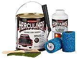 HERCULINER Beschichtung Kit schwarz 3,78 Liter inkl. UV Schutz und Aufkleber in schwarz