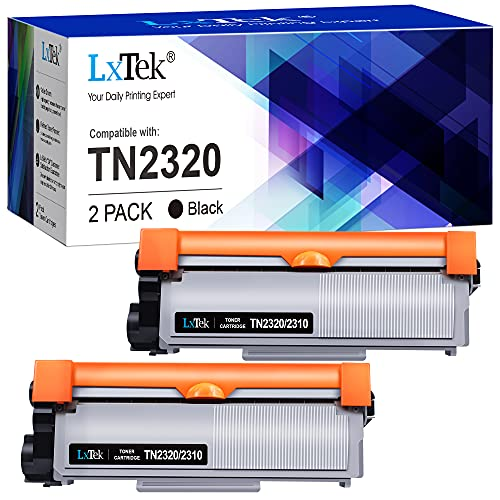 LxTek Kompatibel Tonerkartusche als Ersatz für Brother TN2320 für MFC-L2700DN MFC-L2700DW MFC-L2720DW MFC-L2740DW DCP-L2500D DCP-L2520DW DCP-L2540DN DCP-L2560DW HL-L2300D (Schwarz, 2er-Pack)
