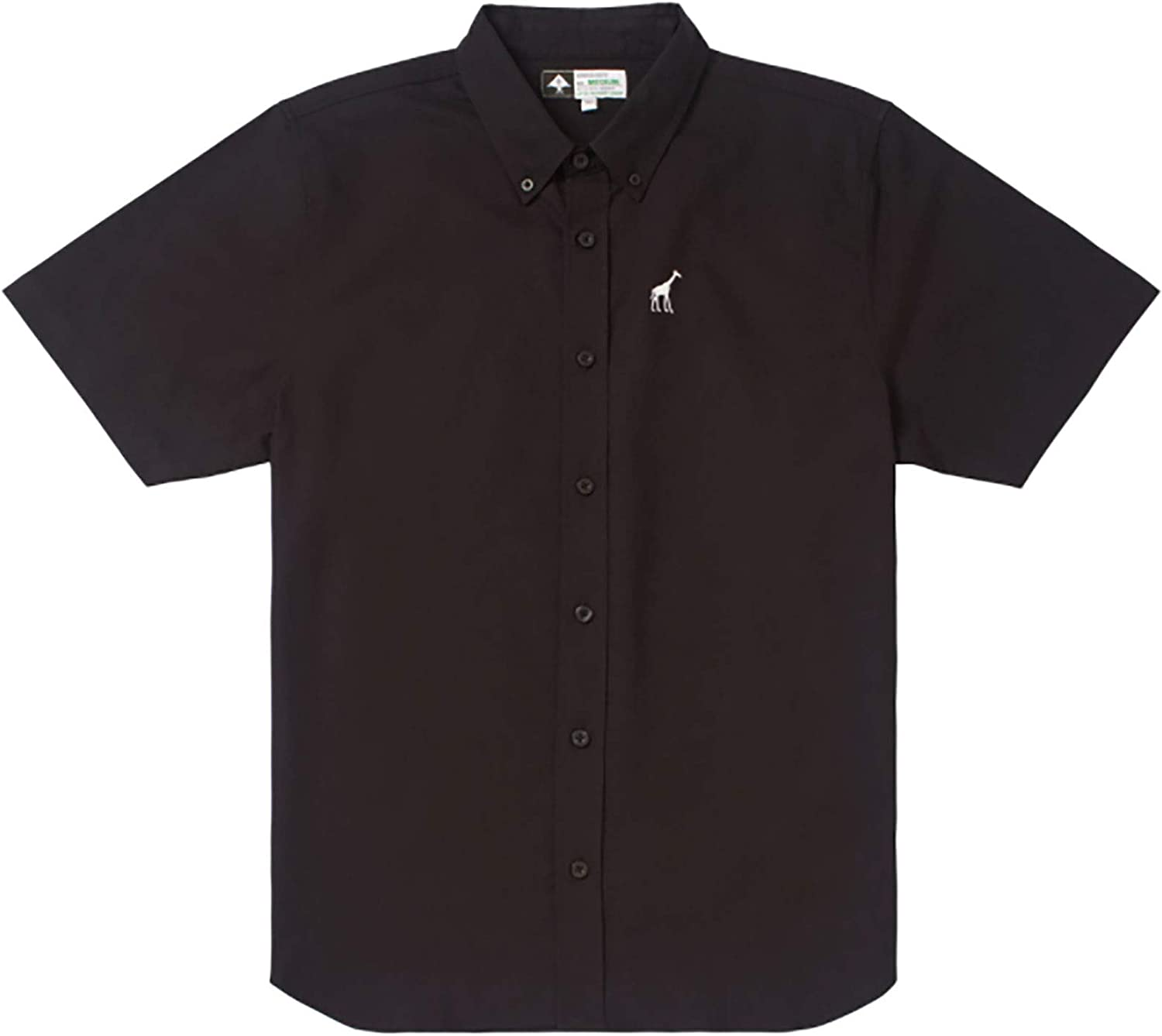 LRG Young Men's Lifted Research Group Short Sleeve Woven Button Up Shirt