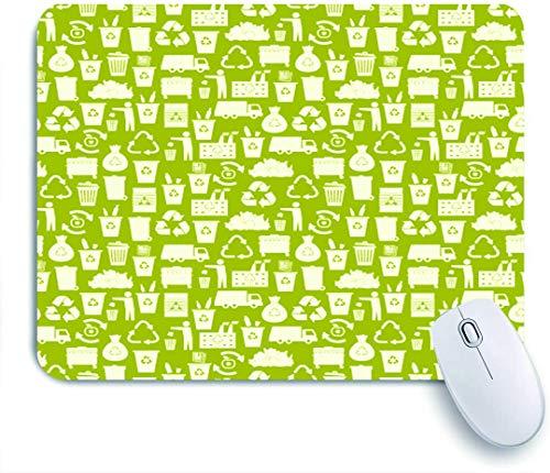 Marutuki Gaming Mouse Pad Rutschfeste Gummibasis,Recycling von Müllsymbolen,für Computer Laptop Office Desk,240 x 200mm