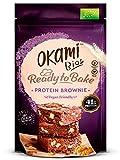 Okami Bio - Mezcla para Brownie Proteico | Alto Contenido en Proteína Vegana de Guisante | Solo 136kcal por Porción | Sin Gluten, sin Lactosa, sin Azúcares Añadidos, 100% Vegano | 123gr