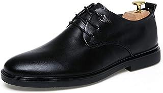 MUMUWU ビジネス 壊れにくい 男性用 はっきり 革 シューズ 耐摩耗 メンズ 滑り止め 紳士靴 ビジネスシューズ