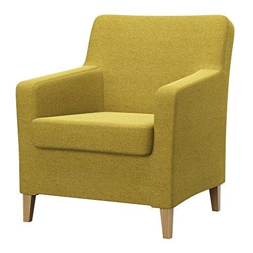 Soferia Bezug fur IKEA KARLSTAD Sessel, altes Modell, Stoff Classic Dark Yellow
