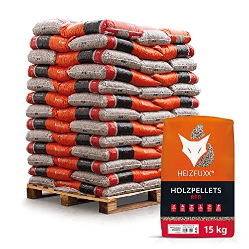 HEIZFUXX Holzpellets Red Heizpellets Hartholz Wood Pellet Öko...