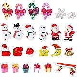 Feelava Noël Miniature Ornament Kits Mini Style De Noël Figurines Père Noël Arbre De Noël Mignon Dessin Animé De Noël Décor pour La Maison Garden Party Decor Bureau Décoration Style B
