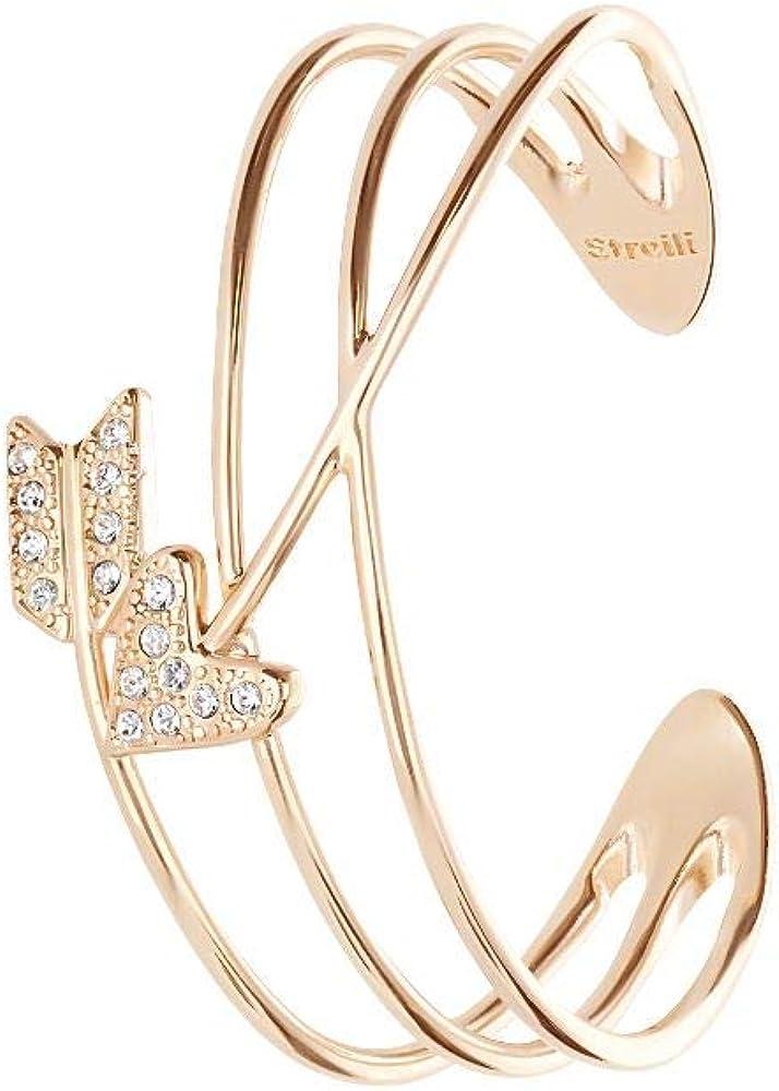 Stroili, bracciale per donna,in ottone con cristalli 1668371