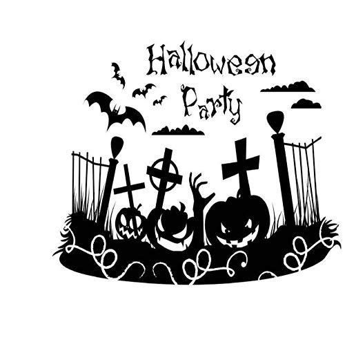 Halloween Holiday Decoration Wandaufkleber Home Decor Wasserdichte Zaun Holiday Wallpaper