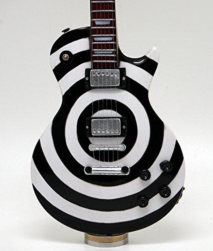 Musical Story ミニチュア ギター 模型 ザック ワイルド Bull's Eye ホワイト ブラック スタイル