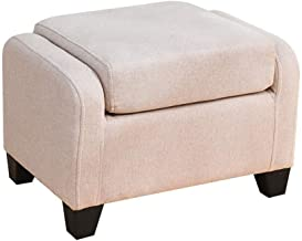 Yxsdd Stool Ottoman Creative Lazy Sofa Soft Cushion Stool Stool Makeup Bench Suitable for Living Room Bedroom Beige