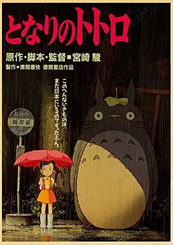 SCLSDF Impression de Photo sur Toile Tableau Miyazaki Hayao Anime Mon Voisin Totoro 30x42cm sans Cadre Murale Photo Image Artistique Photographie Graphique