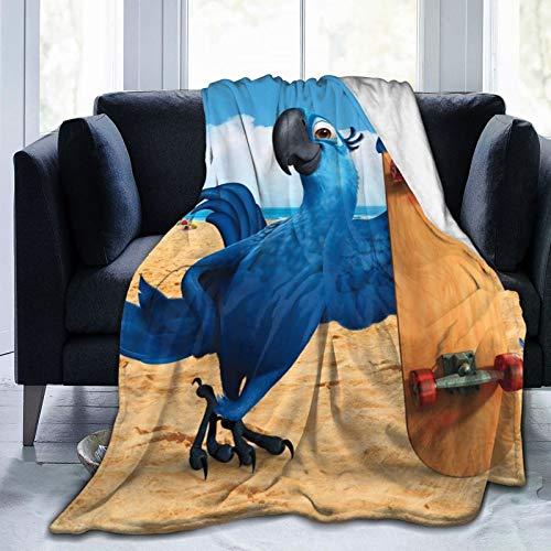 R-I-O 1 y 2 Nigel Samba de Orly - Fundas para sillón, manta individual, súper suave, mullida, tamaño de viaje, para todas las estaciones para sofá cama de 152 x 127 cm
