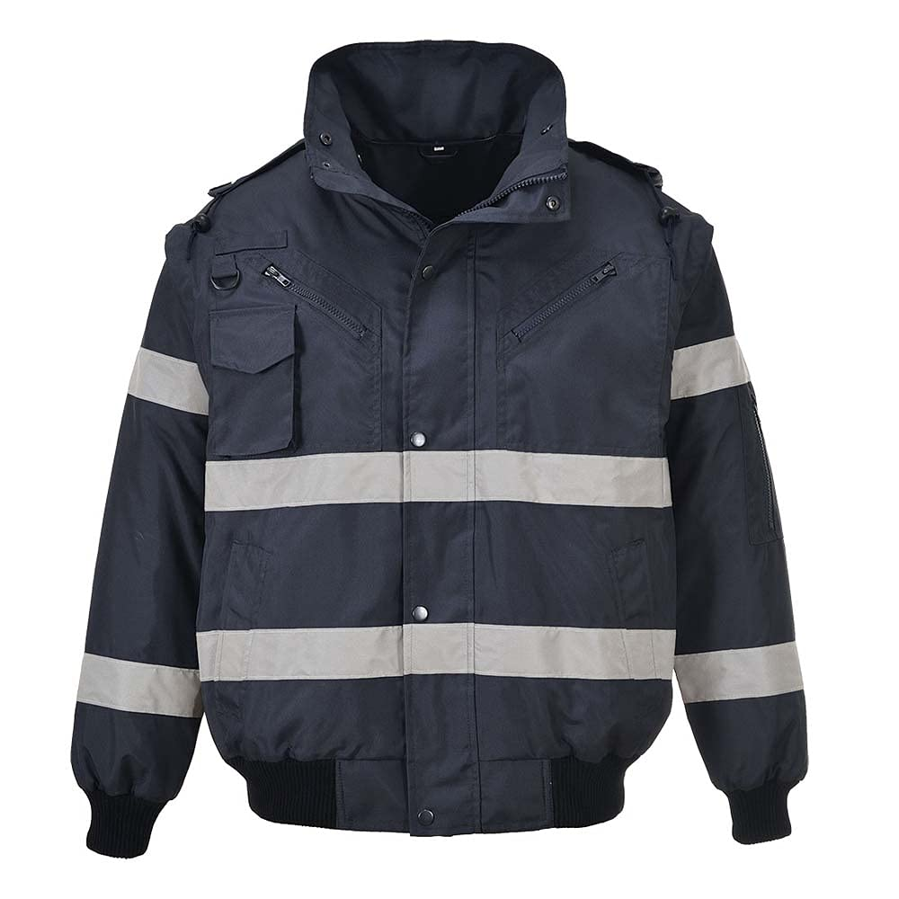 Portwest Workwear Mens Iona 3in1 Bomber Jacket Navy XL