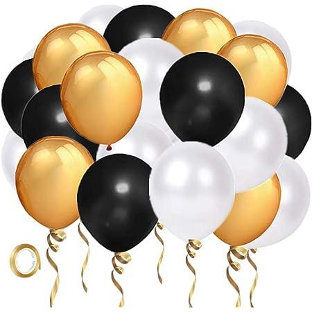 105pcs black gold latex balloon set white balloon garland School Graduation Party classmate reunion decoration baby shower Anniversary