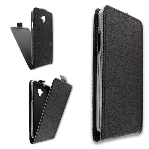caseroxx Flip Cover für Archos 50 Titanium 4G, Tasche (Flip Cover in schwarz)