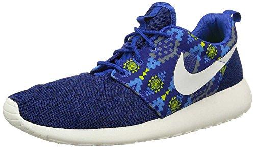 nike roshe one print mens trainers 655206 sneakers shoes (uk 9.5 us 10.5 eu 44.5, game royal sail cool grey photo blue 410)