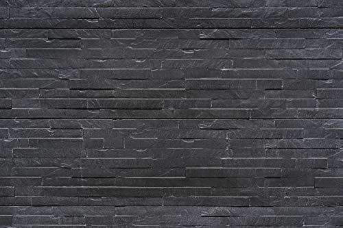 """Betmar Betonzaun Platte """"Schiefermotiv"""" beidseitig - Plattenhöhe 36cm - anthrazit inkl. Schutzanstrich - Attraktiver Schallschutz und Sichtschutz für den Garten"""