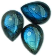 Top Quality Multi Labradorite Oval Cabochons For Jewelry Making,35X22mm,42.40cts...@1802