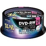 TDK 録画用DVD-RW 1-2倍速 CPRM対応 ホワイトワイドプリンタブル キズや指紋ヨゴレに強いスーパーハードコート・ディスク 「超硬」シリーズ 20枚パック スピンドル DRW120HCDPWA20PA