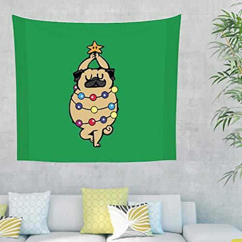 O2ECH-8 Dancing Dog patroonprint wandbehang mode veelzijdigheid wandbehang - groen voor evenementen decoreren