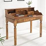 Invicta Interior Exklusiver Sekretär Hemingway L Sheesham Massivholz 115cm Schreibtisch Holztisch