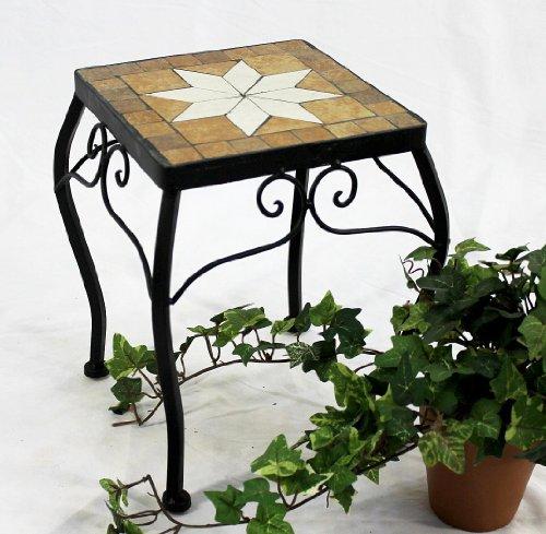 DanDiBo 12015 - Taburete para flores (cuadrado, 28 cm), diseño de mosaico