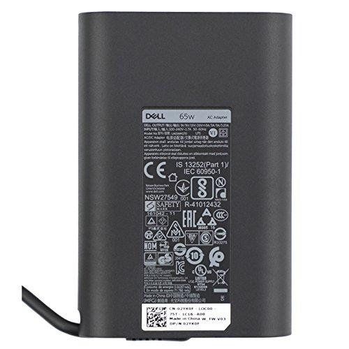 Dell New Genuine 65W 20V 3.25A USB C for LA65NM170, 2YKOF, 02YK0F, XPS 12 9250, Latitude 12 7275 5280 7280, Latitude 13 7370,Latitude 14 5480 7480