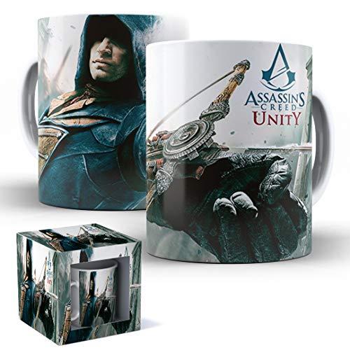 Caneca de Porcelana com Caixinha Presente Assassin's Creed Unity mod.11