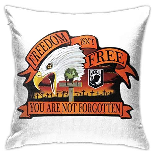 Yuanmeiju Throw Pillow Cover You Are Not Forgotten Square Decorative Funda de Almohada Fundas de colchón Lumbar Funda de Almohada 18x18 Inch
