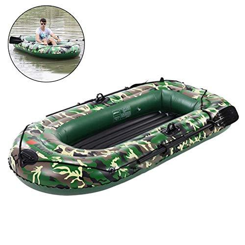 Gorgeousy 2-Personen-Schlauchboot-Set, aufblasbares Kajak, Fischerboot mit Paddel-Luftpumpe (198 cm x 122 cm) - für treibende Wassersportarten