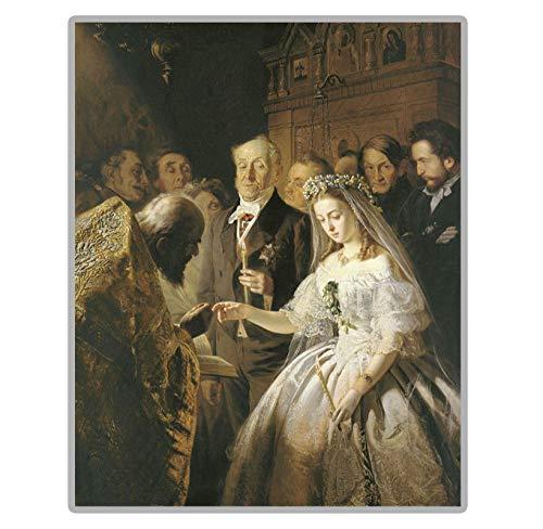 RB-QPIS Kits de pintura de diamante 5D DIY, pintura famosa'El matrimonio desigual', decoración de pared, manualidades y regalos-40 × 50 CM