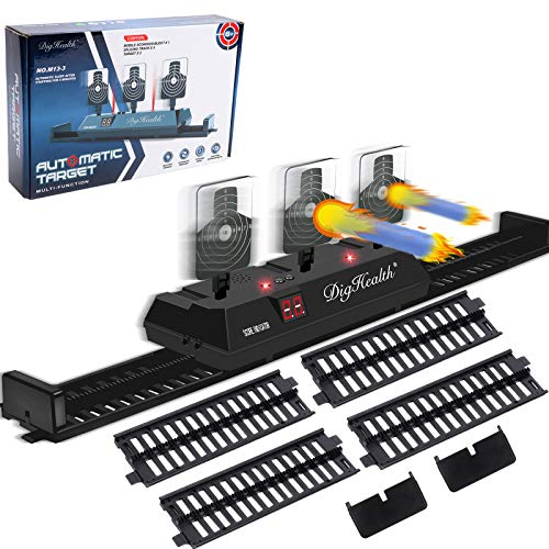 DigHealth Mobil Zielscheibe für Nerf, Elektronische Digitale Zielscheibe mit Spur, Automatische Rücksetzung Zielscheibe mit Hellem Soundeffekt für N-Strike Elite/Mega/Rival Series