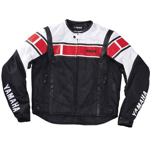 ヤマハ(YAMAHA) YAS10 HTメッシュジャケット ホワイト/レッド L 90792-A922L