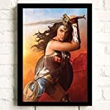 Wonder Woman Movie Gal Gadot Poster Prints Wall Art Decor Unframed,Multiple Patterns Available,16x12 32x22 Inches