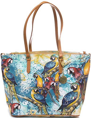 YNOT BORSA DONNA borsa grande da donna tropical E-399.tro