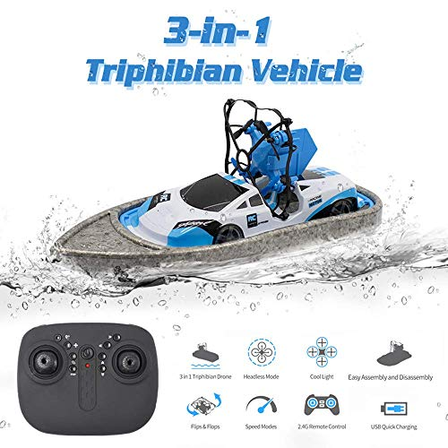 RC Boat Mini Remote Control Boten Schip Drone Hovercraft Triphibian Vehicle RC speelgoed for kinderen Hobby's Gifts WKY