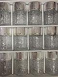 Set de 12 de Vasos de Cristal con para Té marroquí (Plata)