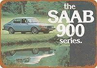 Saab 900シリーズ メタルポスター壁画ショップ看板ショップ看板表示板金属板ブリキ看板情報防水装飾レストラン日本食料品店カフェ旅行用品誕生日新年クリスマスパーティーギフト